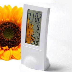 · Reloj despertador digital transparente