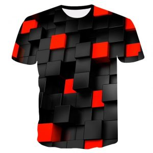 Camiseta 3D Cuadrados