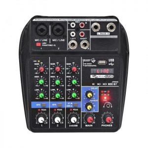 Mesa mezcla mini, Phantom de 48 V 4 canales, USB