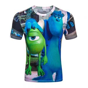 Camiseta 3D Mostruos S.A