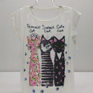 Camiseta talla unica Gatos