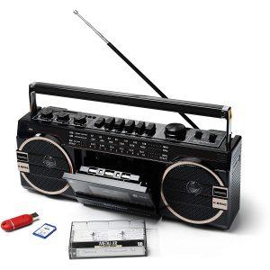 Radio Cassette portatil retro Sanda -5117 con USB y SD