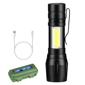 Linterna mini USB con estuche