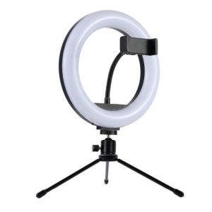 Luz anillo led 20 y 26cm con mini tripode y soporte smartphone