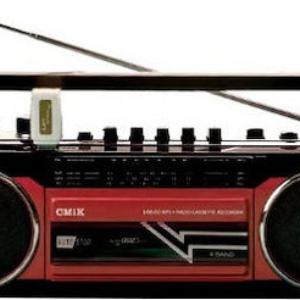 Radio Cassette portatil retro CM1K MK-132BT con USB y SD