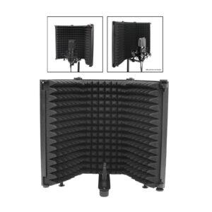 Panel de espumas acústica ajustable en 3 paneles, aislamiento para micrófono.
